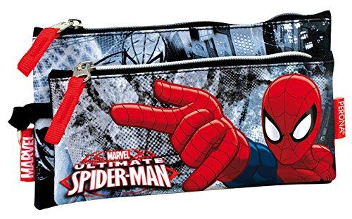 Spiderman–Estuche escolar doble Spidey
