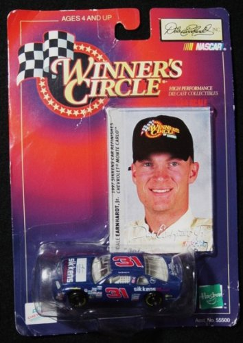 Winner's Circle Dale Earnhardt Jr. Blue #31 Sikken's 1/64 Scale Stock Car Series Diecast and Collector's Trading Card