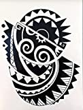 MÄNNER TRIBAL TATTOO SCHWARZ wx147 Oberarm Tattoo Aufkleber Maori und