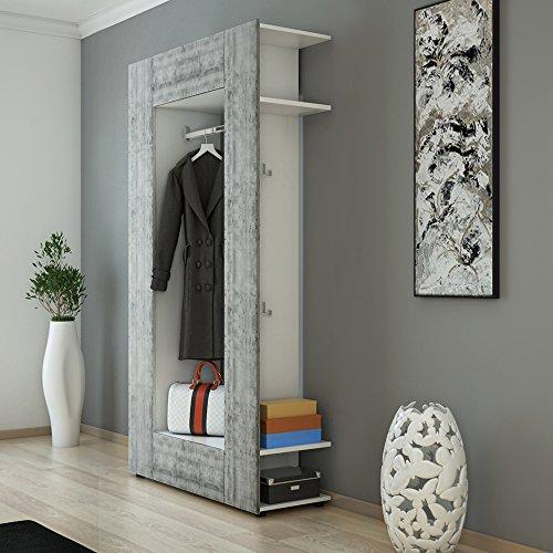 Guardaroba armadio armadio a muro scaffale pannello ingresso mobile scarpiera bianco - Mobile guardaroba per ingresso ...