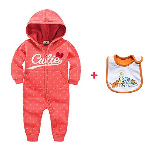 CORLISS Baby Spieler mit Baby Bib für Jungen Mädchen (2-4 Monate(Baby-Höhe:21.5-26 Zoll), # CWP19)