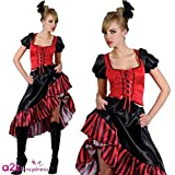 Can Can Saloon Girl - Adult Costume Lady: XXL (UK:26-28)