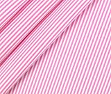 0,5m Stoff Baumwolle Streifen schmal - rosa