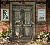 druck-shop24 Wunschmotiv: Darßer Haustür in Wustrow, Mecklenburg-Vorpommern #38110857 - Bild auf Leinwand - 3:2-60 x 40 cm/40 x 60 cm