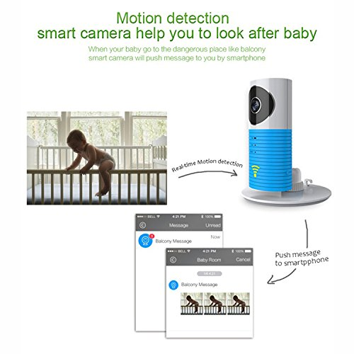 Baby Monitor drahtlose WiFi IP-Überwachungskamera Home Video Monitor Mini Control Tür Fensterkontakt für iPhone iPad & Android(z.B. Samsung HTC LG Sony Google Nexus) - 4