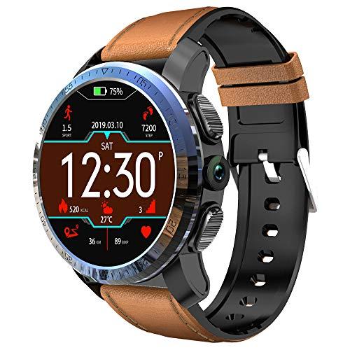 Intelligente Uhr 4g Android 7.1 3gb 32gb mit GPS 8 Millionen Pixel-Kamera 1,39 Zoll AMOLED-Bildschirm 800mAh-Batterie intelligente Uhrmänner Kospet (Brown) Android 4.0 Gps