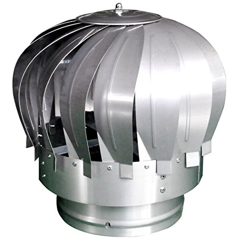 Stainless Steel Rotating Chimney Cowl Cap Spinner Anti-Downdraught