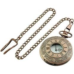 Gentlemans Pocket Watch - Antique Bronze Finish
