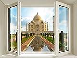 Cosmetess 847-Sticker da Finestra, in PVC, Taj Mahal, Colore