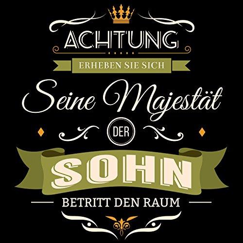 Fashionalarm Herren T-Shirt - Seine Majestät der Sohn betritt den Raum | Fun Shirt mit Spruch als Geburtstag Geschenk Idee für Jungen Schwarz