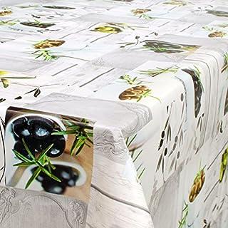 ANRO Wachstuch Wachstischdecke Tischdecke abwaschbar Oliven 180 x 140cm