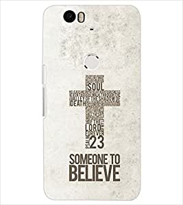 PrintDhaba QUOTE D-6940 Back Case Cover for HUAWEI NEXUS 6P (Multi-Coloured)