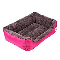 TOOGOO(R) Dog Bed Kennel Cat Pet Puppy Bed House Soft Warm, Pink S