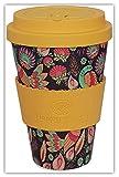 ASIANA by Happy Earth (wiederverwendbare, umweltfreundliche Kaffeetasse, 450 ml, aus organischer natürlicher Bambusfaser, kann als Reisebecher oder Kaffeetasse verwendet werden)