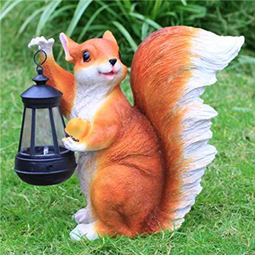 LOVEPET Simulierte Tierskulptur FRP Ornamente Sonnenlicht Für Eichhörnchen Im Freien Gartengrasverzierung 27 X 15 X 27 cm (Eichhörnchen-montage-kit)