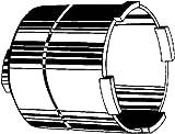 Kaiser 1088-03 Diamant-Schleifkrone 68x60mm f.Staubabsaugung