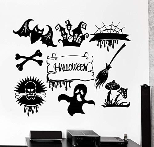 Vinyl wand applique Halloween fest horror monster geist aufkleber urlaub wandaufkleber wohnzimmer dekoration 42 * 51 cm