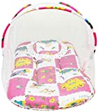 #5: Chhote Saheb Cotton Bedding Set with Foldable Mattress Mosquito Net & Pillow White Pink