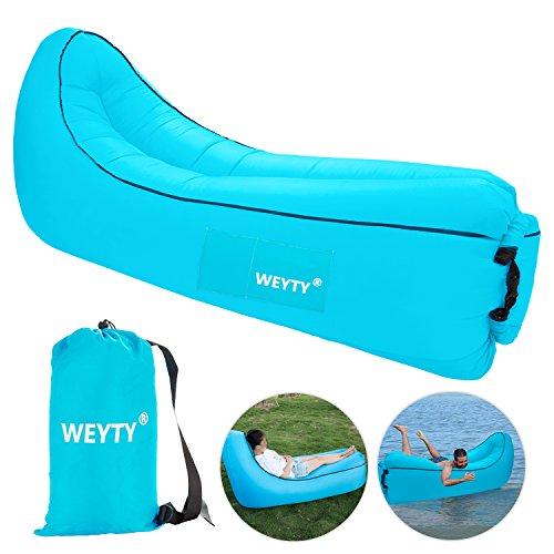 WeyTy Luftsofa, Air Lounger Wasserdichtes Tragbares Aufblasbares Sitzsack Liege Sofa/Bett mit...