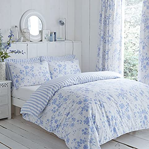 Classic Charlotte Thomas Amelie Bedding Duvet Cover 2 Pillowcases Set, Blue - King Size by HLS Bedding