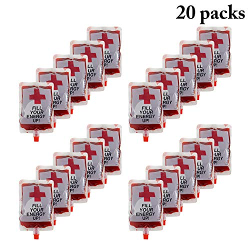 Joyibay 20PCS Flask Kit Concealable Wiederverwendbare Plastikflasche Schnapsbeutel für Halloween