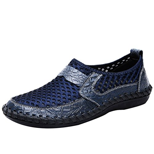Vogstyle Herren Slip-on Vintage Badeschuhe Surfschuhe Wassersportschuhe Aqua Schuhe für Herren Art 1 Blau