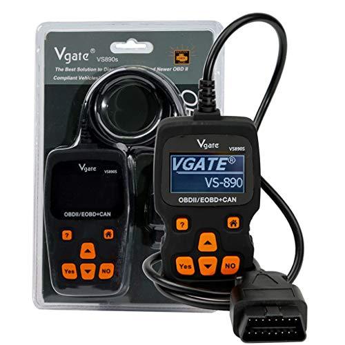 wyxhkj Kfz-Codeleser-Unterstützung von Vgate VS890S Automotive Scanner OBDII unterstützt mehrere Marken (Schwarz)