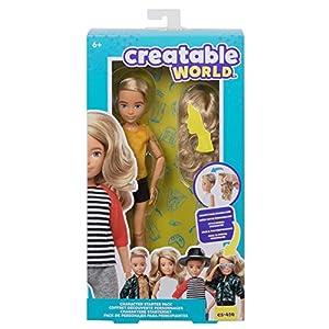 Creatable World pack de personajes, cabello rubio juguete para niños y niñas +6 años (Mattel GKV44)