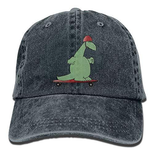 (Dinosaurier Hard Hats Dia-Platte Vintage Trucker Hat gewaschen Denim Erwachsenen Cowboy Hut Baseball Cap (eine Größe))