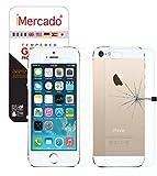 iMercado® | 2 x Apple iPhone SE / 5/ 5s Schutzfolie , Gehärtetem Glas - Vorne und Hinten - Ultra beständig - Panzerglas Schutzfolie