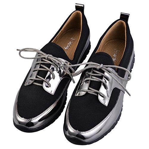 hengfeng-colorido-plano-cordones-zapatos-para-mujeres-39-eu-gris
