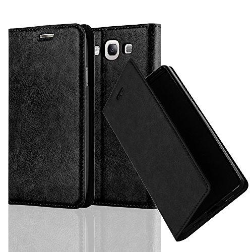 Cadorabo Hülle für Samsung Galaxy S3 / S3 NEO - Hülle in Nacht SCHWARZ - Handyhülle mit Magnetverschluss, Standfunktion & Kartenfach - Case Cover Schutzhülle Etui Tasche Book Klapp Style