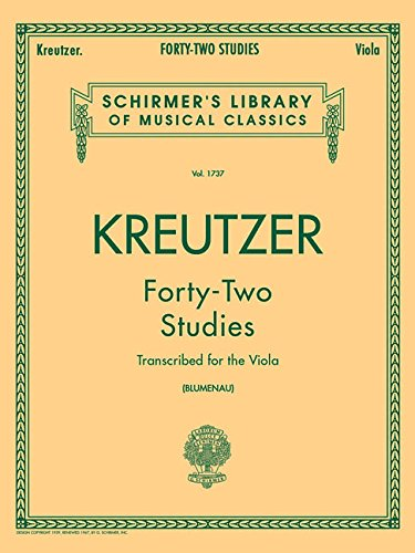 Kreutzer: Forty-Two Studies (Schirmer's Library of Musical Classics, Volume 1737)