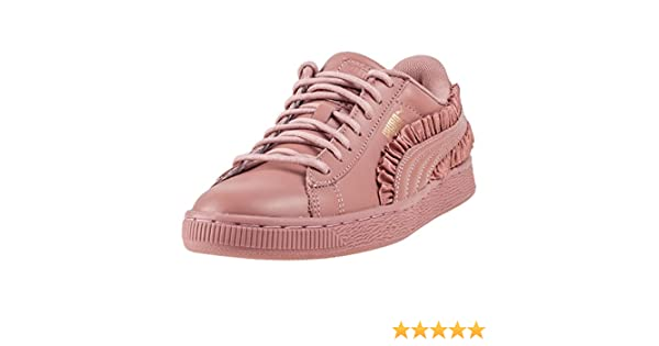 9838c2f314 Puma Basket Classic Frill Cameo Bro Womens Trainers Rose - 8 UK ...