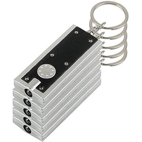 Seguryy 5 Mini lampe torche, Super Bright LED lampe torche porte-clés léger Porte-clés Ultra Lampe Camping Randonnée Voyage poche Accessoires(Noir)