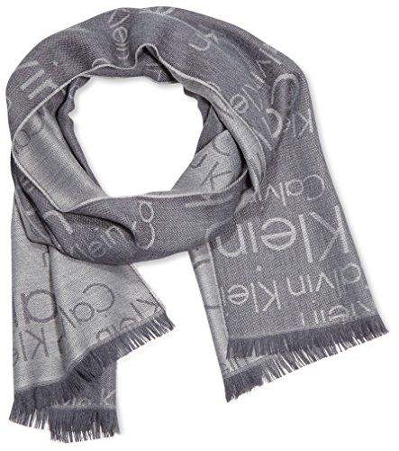 Calvin Klein Jeans Herren Schal Logo 2 Scarf Gr. One size (Herstellergröße: OS) Grau (CASTLEROCK/GRIFFIN 903) - Denim Schal