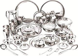ARD Accessories Stainless Steel Best Quality Premium Range of Dinner Set 24 Pcs Stainless Steel Dinner Set (kitchenSet_24pcs_05)