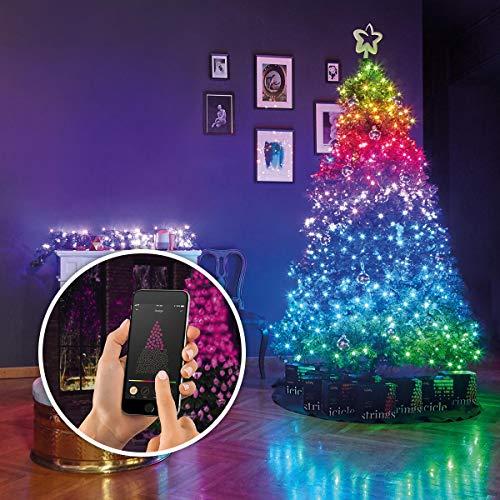 Angebot: Lichterkette – TWINKLY – 2019 NEUE GENERATION II – SmartPhone, Alexa, Google Assistant & Musik kontrollierbar – 16,8 Millionen Farben – für Innen & Outdoor (3-Kanal 250 LEDs auf 20m Beleuchtungslänge) für nur 100,00 € statt bisher 110,00 € auf Amazon