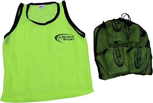 World Sport-Set von 10Mesh Training Lätzchen mit inkl. kostenloser Tragetasche/Wäschesack - gelb - Für Erwachsene