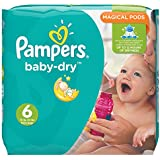 Pampers Baby Dry Windeln, Gr.6 (Extragroß) ab 15kg, Monatsbox, 124 Stück