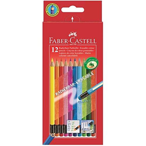 NEU Faber-Castell 12 Stück. radierbare Buntstifte