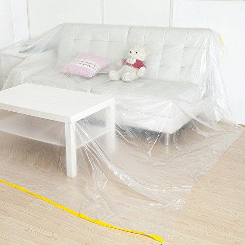 QEES JJZ21 Sofabezug, extra groß, strapazierfähig, wasserdicht, Möbelschutz, Staubschutz für Bett, Sofa, Möbel beim Umzug oder Aufbewahren weiß