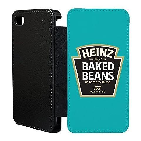 Essen Snacks Flip Tasche Geldbörse für Apple iPhone 5 - 5 S No.17 - Heinz baked beans - G1007