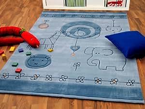 lifestyle kinderteppich babywelt blau hellblau in 3 gr en. Black Bedroom Furniture Sets. Home Design Ideas