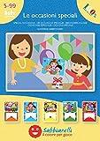 Sabbiarelli Sand-it for Fun - Album Le Occasioni Speciali: 5 Disegni Adesivi da Colorare con la Sabbia, Adatto per Bambini Anni 5+