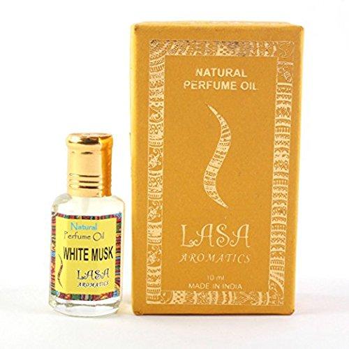 Lasa Aromatics natürliches Parfümöl weißer Moschus Duft 100% rein und natürlich - 10ml Amber Weißen Körper-öl