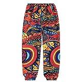 Pantaloni da Spiaggia Donna Casual Pantaloni Colorati Leggings Pantaloni Etnici Personalizzati (XL, Multicolor)
