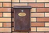 Sigdez Plaque de découpe Personnalisable pour boîte aux Lettres, Sonnette, Plaque de réception, Cadeau d'initiation, logement, Bois, Gravure au Laser, Gravure au Laser