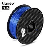 TIANSE Filamento de PETG para la impresora 3D / Pluma 3d, 1 kg 1,75 mm(Azul)