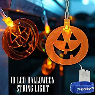 QTX light Halloween LED Battery String Fairy Lights Scary Pumpkins Spooky Decorations